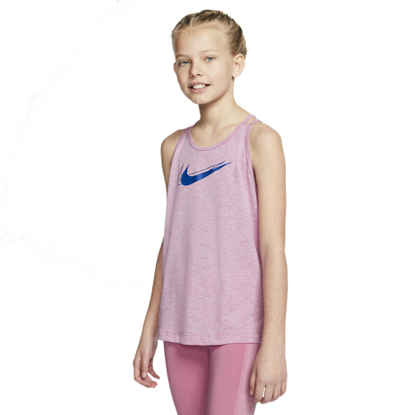 Nike Trophy GFX Girls Tank Flamingo