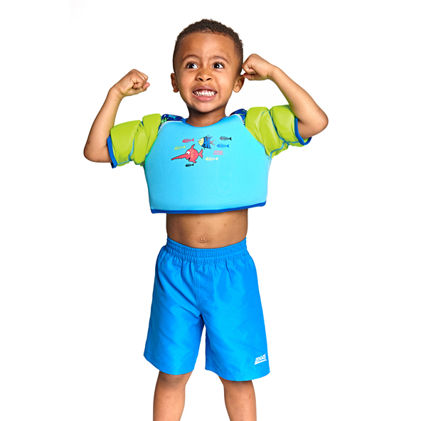 Zoggs Aqua Water Wings Vest  2-3yr Aqua
