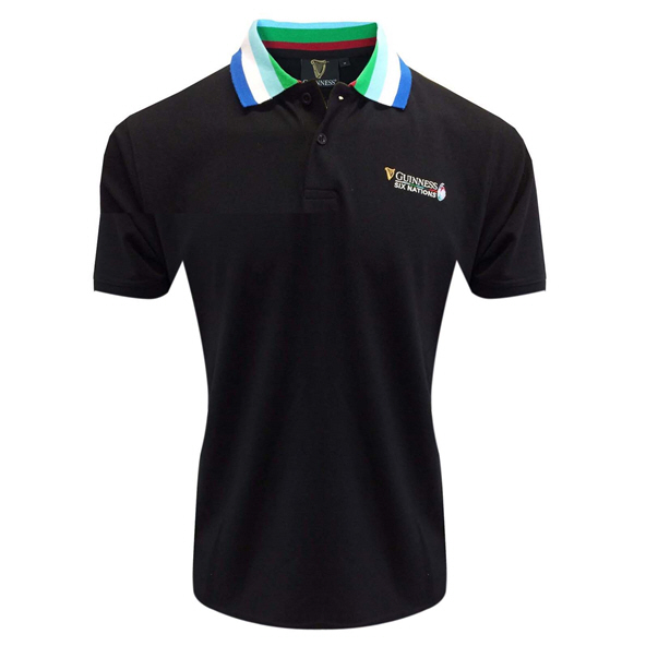 Tradcraft Guiness 6 Nations Polo Black