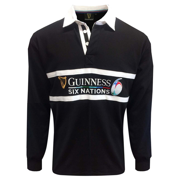 Tradcraft Guiness 6 Nations LS Jers Blk