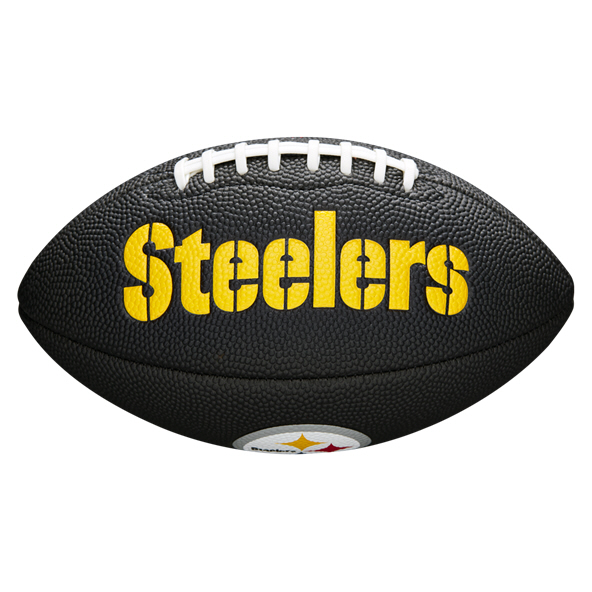 Wilson NFL Team Logo Mini - Steelers Blk