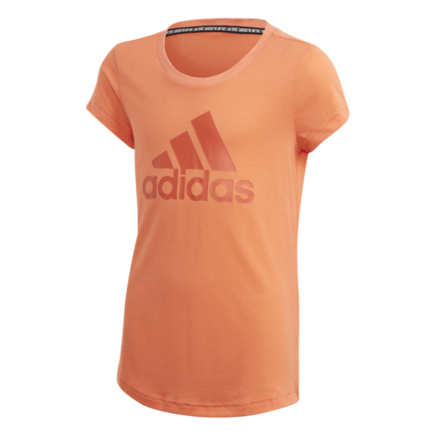 adidas Must Haves BOS Girls' T-Shirt, Coral