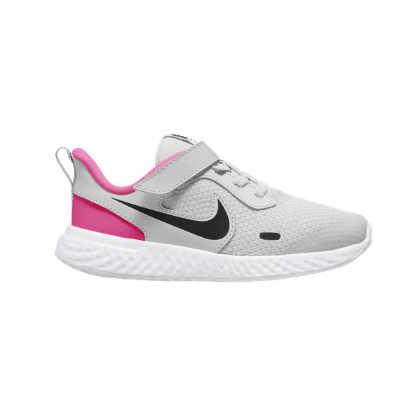 Nike Revolution 5 Junior Girls' Trainer, Grey