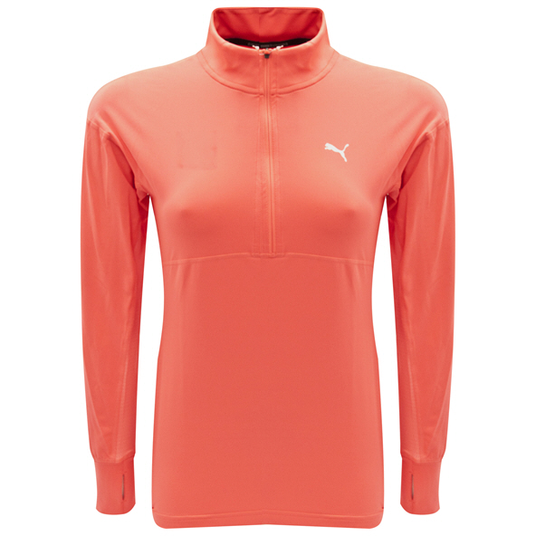 Puma ESS Girls 1/4 Zip Top Rose