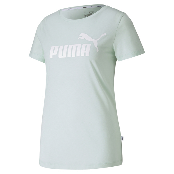 Puma  ESS Logo Heather Women's T-shirt Green