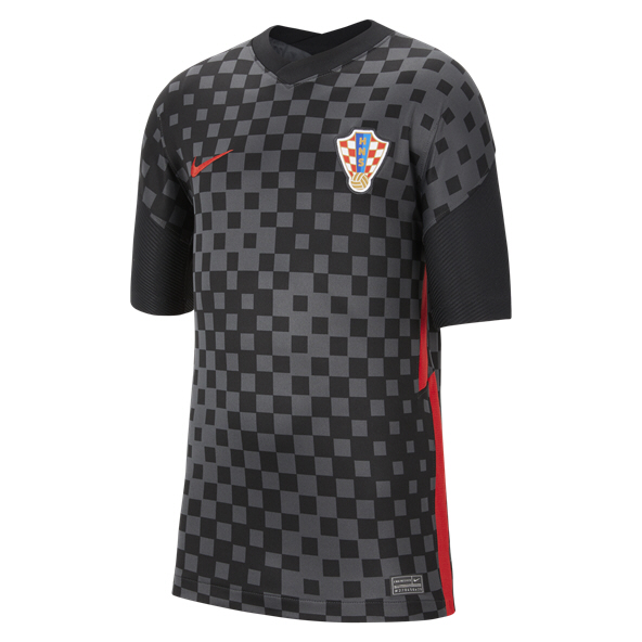 Nike Croatia Away 20 Kids Jersey Black