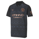 Puma Manchester City 2020/21 Away Kids' Jersey, Black