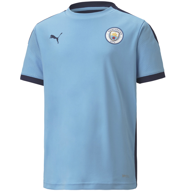 Puma Manchester City 2020/21 Kids' Training Jersey, Blue