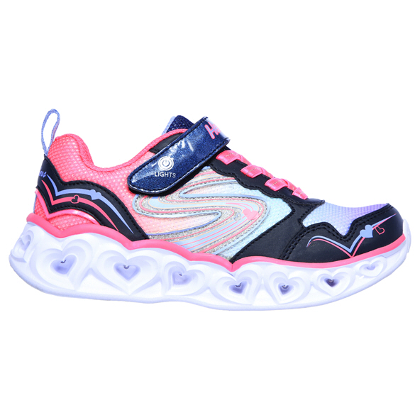 Skechers Heart Lights Junior Girls' Trainer Navy