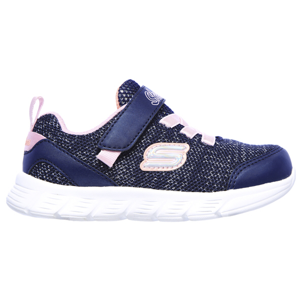 Skechers Comfy Flex Infant Girls' Trainer Navy/Pink