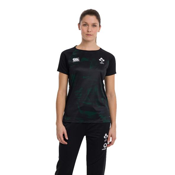 Canterbury IRFU 2020 Poly Women's T-Shirt, Black