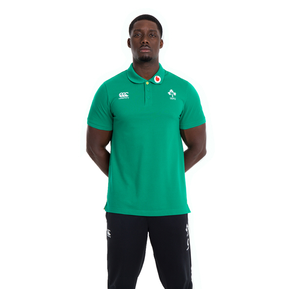 Canterbury IRFU 20 Cotton Polo Green