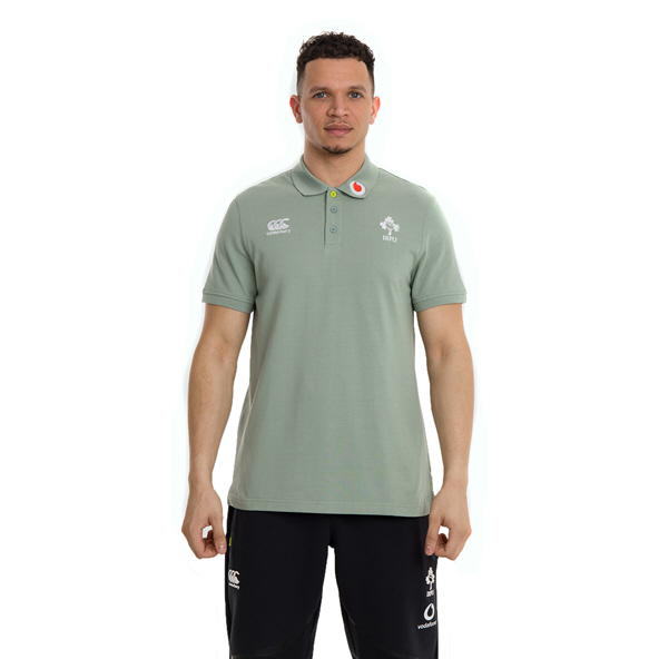Canterbury IRFU 2020 Cotton Polo, Green