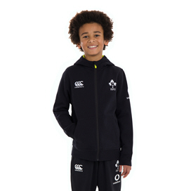 Canterbury IRFU 2020 Kids' Full Zip Hoody, Black