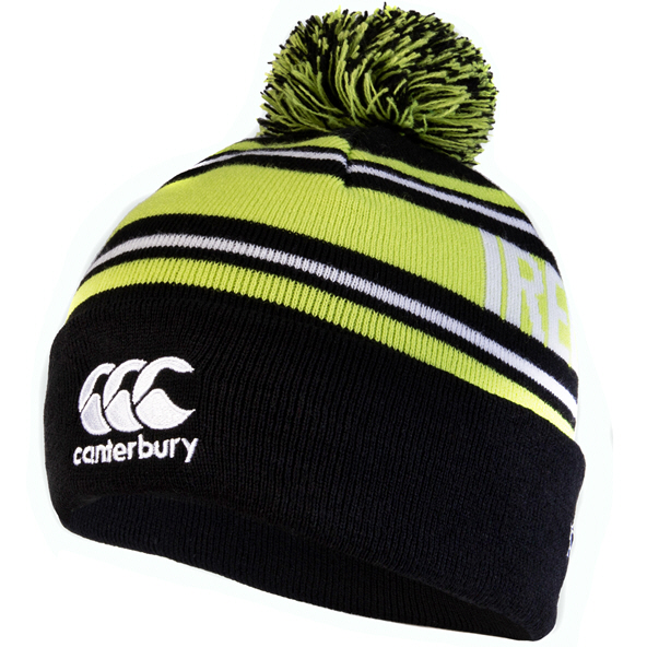 Canterbury IRFU 20 Bobble Beanie Black