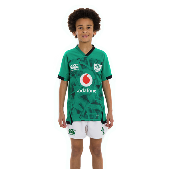 Canterbury IRFU 2020 Pro Home Kids' Jersey, Green