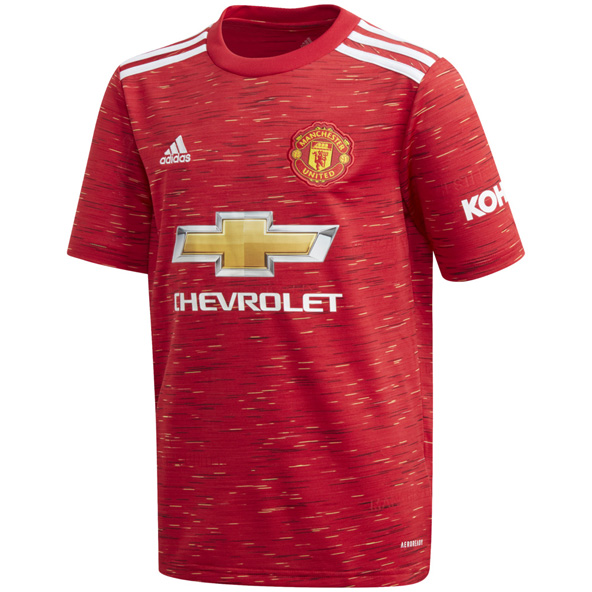 adidas Man Utd 20 Home Kids Jersey Red