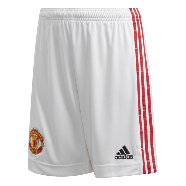 adidas Man Utd 20 Home Kids Shorts White