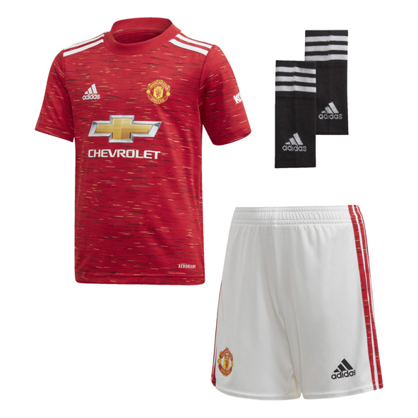 adidas Man United 2020/21 Home Kids' Kit, Red