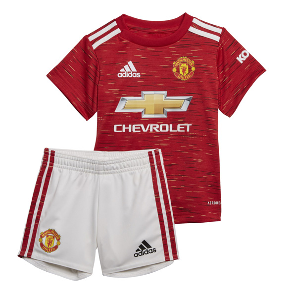 adidas Man United 2020/21 Home Infant Kit, Red