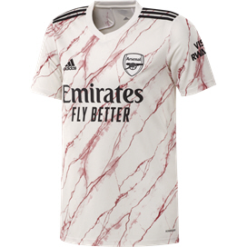 adidas Arsenal 2020/21 Away Jersey, White