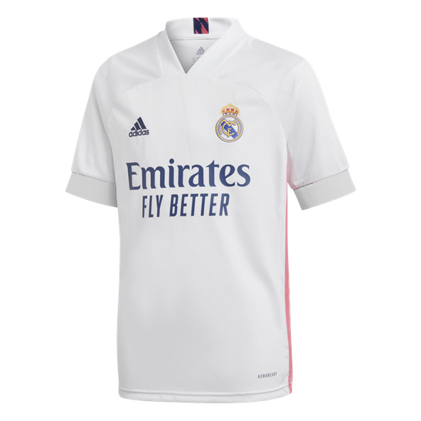 adidas Kids Real Madrid 20 Hm Jersey Wht