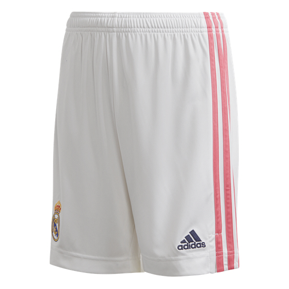 adidas Real Madrid 2020/21 Home Kids' Short, White