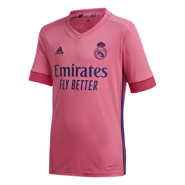 adidas Real Madrid 2020/21 Away Kids' Jersey, Pink