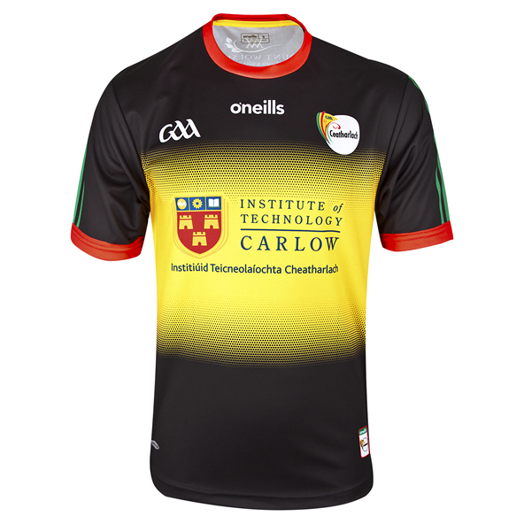 O'Neills Carlow 2020 Home Goalkeeper Kids' Jersey, Black