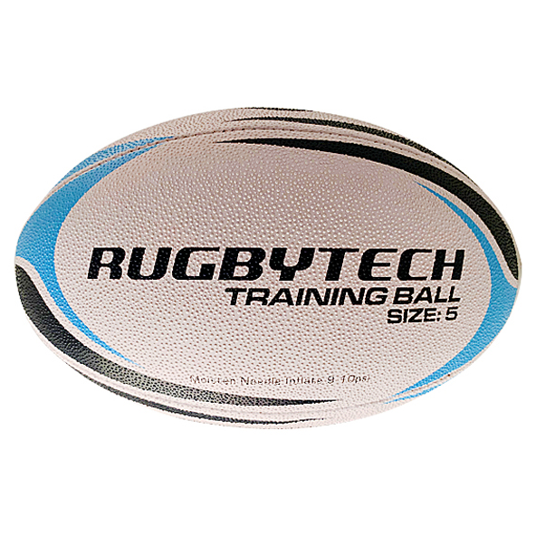 Rugbytech Snr 5 Training Ball White/Blue