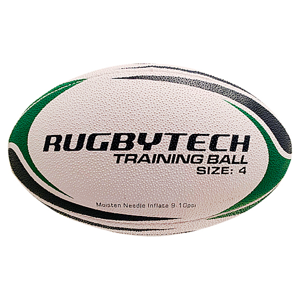 Rugbytech Snr 4 Training Ball White/Grn