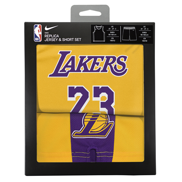 Nike Lakers James Kids Kit Yellow