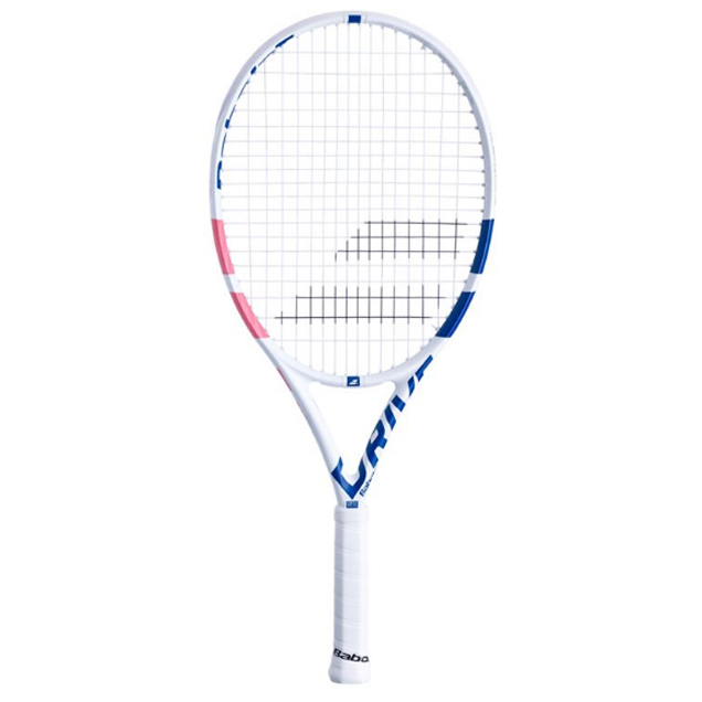 Babolat Pure Drive 25 Junior Tennis Racket, White Pink