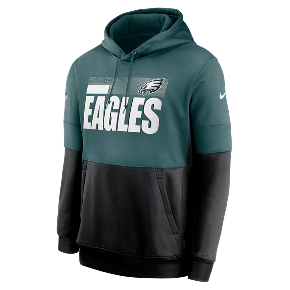 Nike Eagles Therma Hoodie Blue/ Black