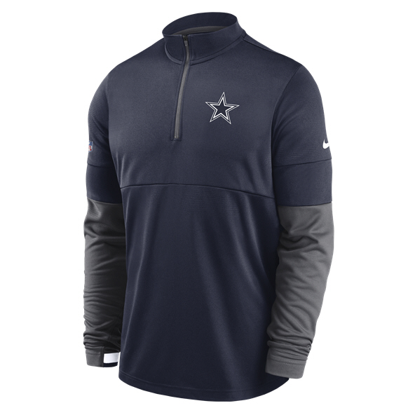 Nike Dallas Cowboys Therma Top  Navy/Gry