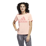 adidas BOS Logo Women's T-Shirt, Light Flash Orange