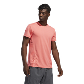 adidas Aeroready 3-Stripe Men's T-Shirt, Semi Flash Red