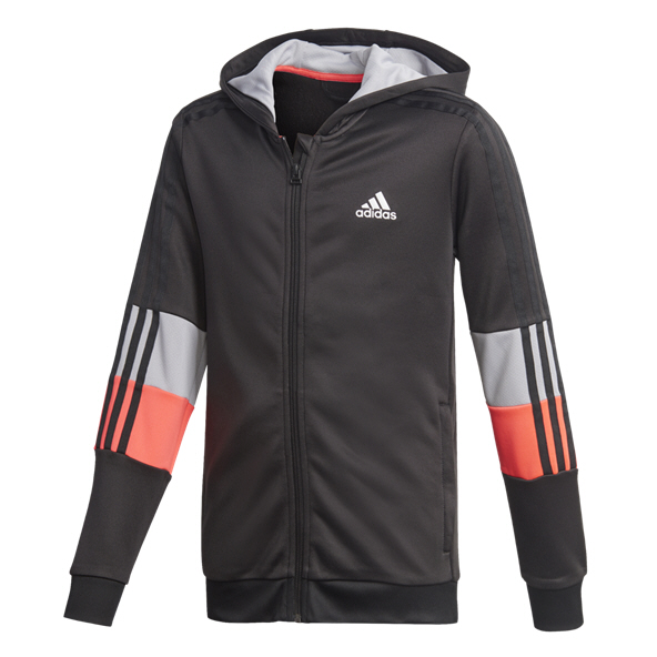 adidas Aeroready 3 Stripe Boys' Hoody, Black