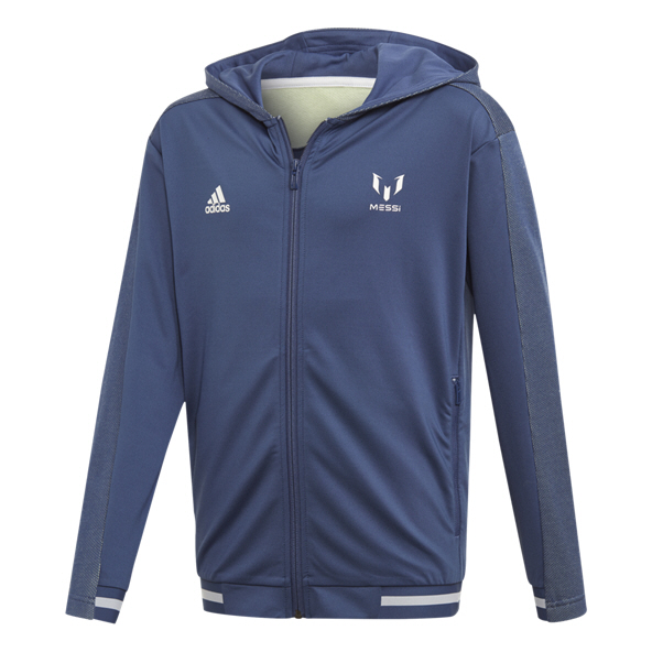 Adidas Messi Icon Boys Hoody Indigo/Wht