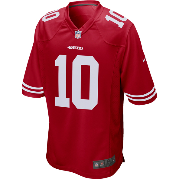Nike 49ers Gaoppolo Jersey Red