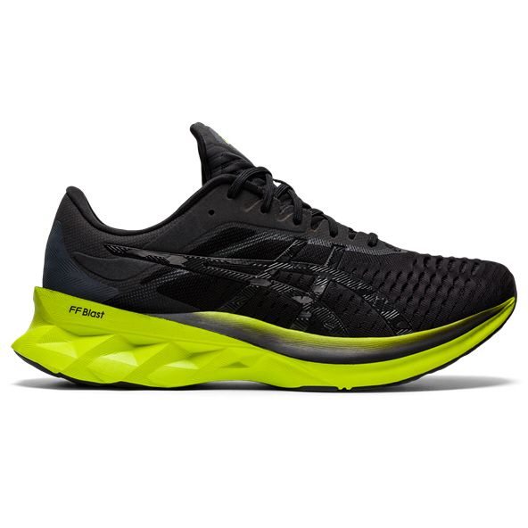 Asics Novablast Mens Run Black/Lime