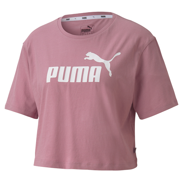 Puma ESS Cropped Wmns Logo Tee Pink