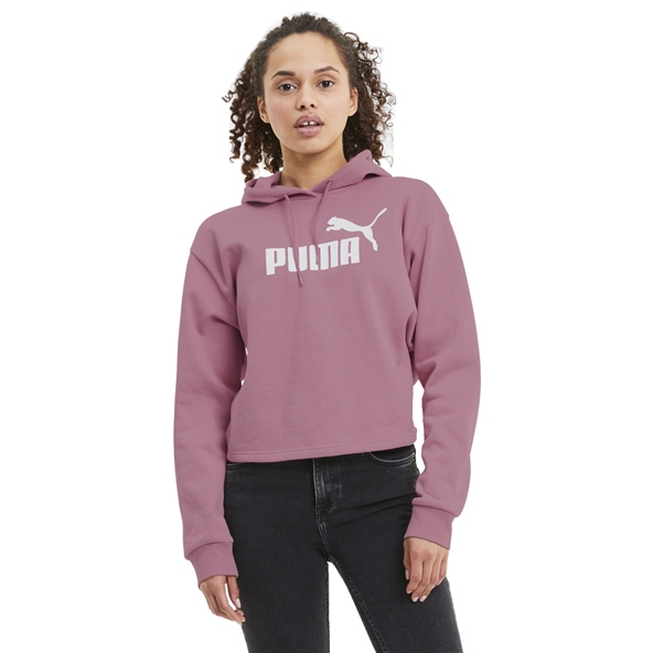 Puma Elevated Logo Women's Cropped Hoody Pink