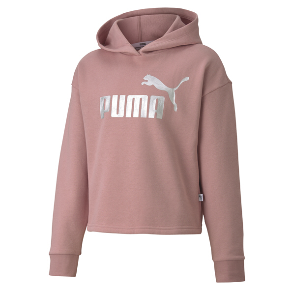 Puma ESS Girls Fleece Hoody Pink