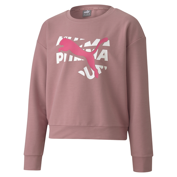 Puma Modern Sports Girls Crew Sweat Pink
