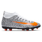 Nike Mercurial Superfly 7 Club CR7 Safari Kids' Football Boot, White