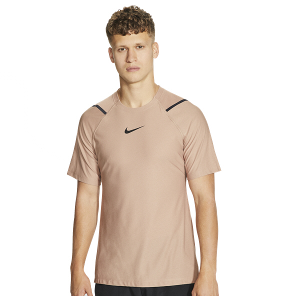 Nike Pro Men's Short Sleeve T-Shirt, Brown
