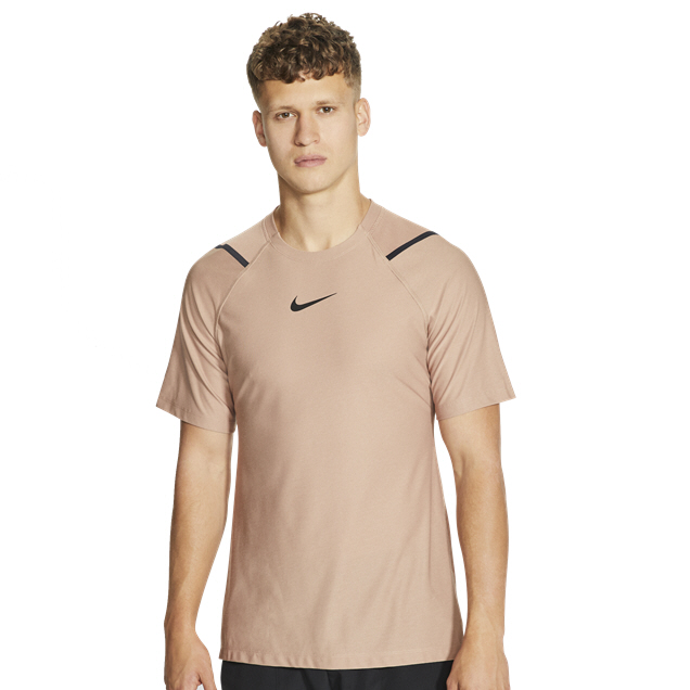 Nike Pro Mens SS Top Brown
