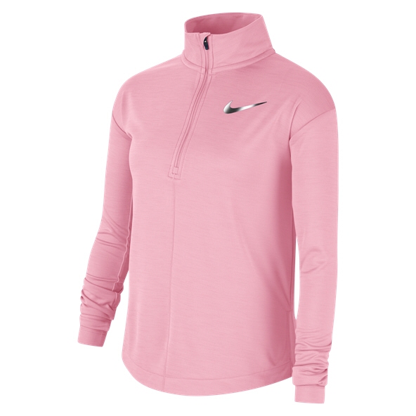 Nike Run Girls' ½ Zip Top, Pink