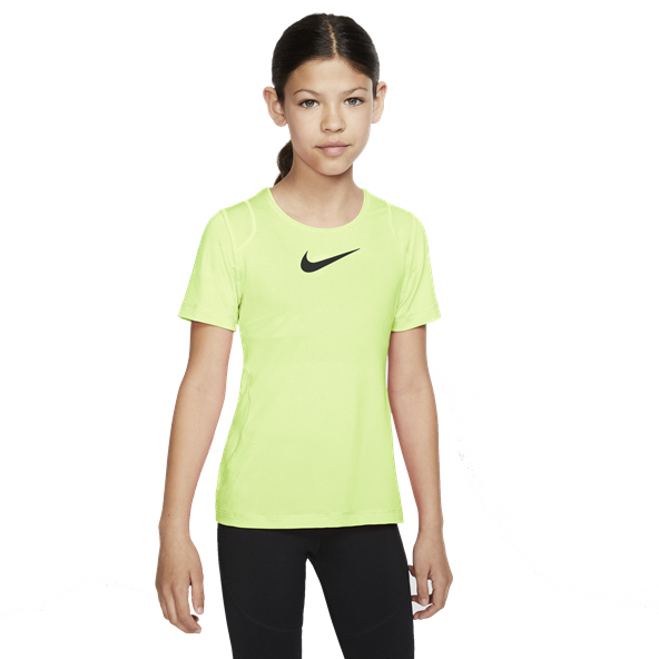 Nike Pro Girls SS Top Yellow